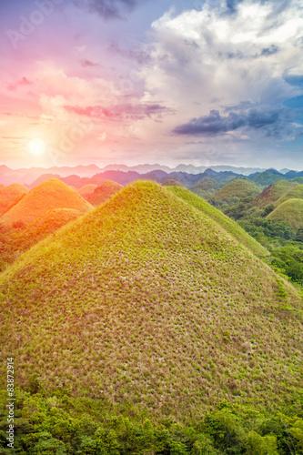 Foto op Aluminium Heuvel Beautiful Chocolate Hills in Bohol, Philippines