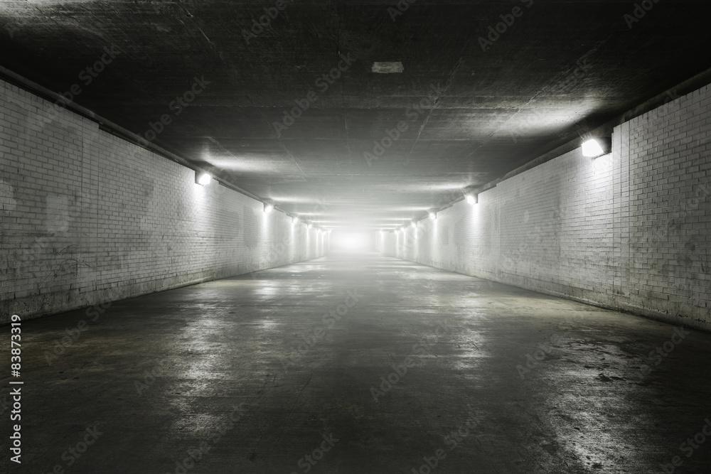 Fototapeta Empty tunnel with light