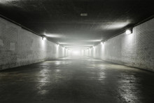 Empty Tunnel With Light