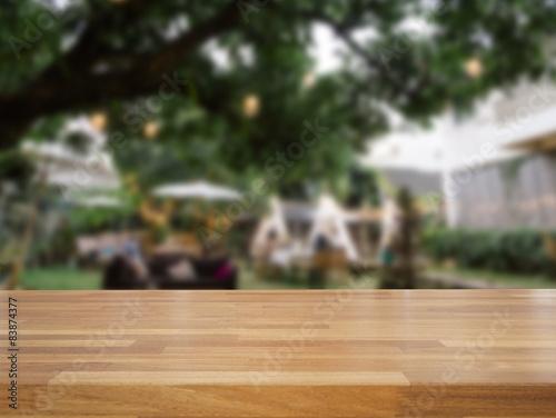 blurred outdoor backgrounds summer outdoor empty wooden table and blurred outdoor cafe background buy this
