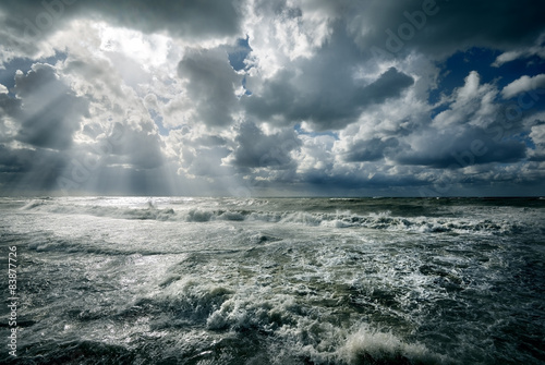 In de dag Zee / Oceaan Rough sea