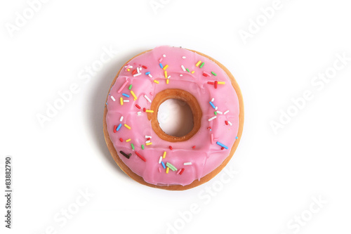 Photo  sweet delicious temptation donut with toppings sugar addiction