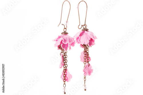 Fotografija  Handmade Earrings isolated on white
