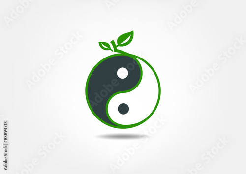 Fotografie, Obraz  Yin Yang Nutrition vector symbol