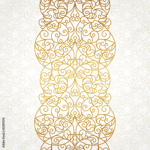 Foto  Vector ornate seamless border in Eastern style.