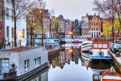 Canvas Prints Amsterdam Overview of Amsterdam