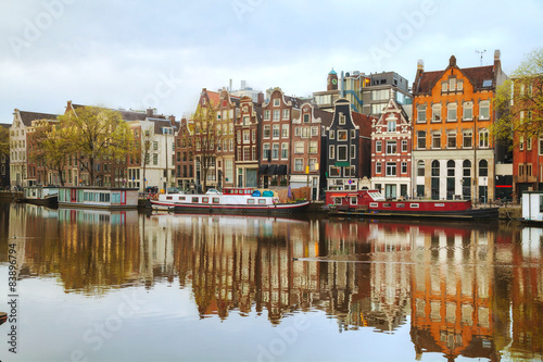 Overview of Amsterdam, the Netherlands Canvas Print