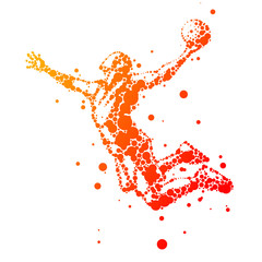Fototapeta Koszykówka illustration of abstract basketball player in jump