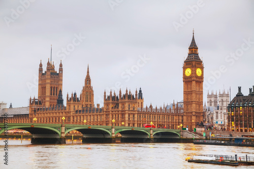 Poster London London with the Clock Tower and Houses of Parliament