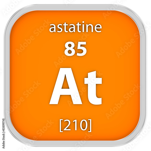 Astatine material sign Canvas Print