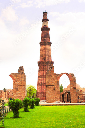 Foto op Canvas Delhi Qutub-Minar Tower, Delhi, India