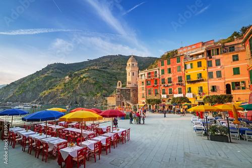 Obraz na płótnie Vernazza town on the coast of Ligurian Sea, Italy