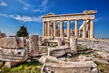Parthenon Temple On The Acropo...