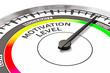 Leinwandbild Motiv Motivation level concept