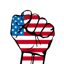 Power Of Liberty, Concept With USA Flag Background.