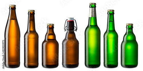 Fotografia  beer bottle set