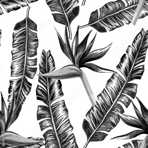 tropikalny-kwiatowy-czarno-bialy-desen-bez-szwu