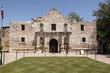 canvas print picture - The Alamo, Texas mit texanischer Flagge