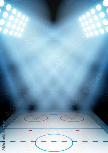 Photo  Background for posters night ice hockey stadium