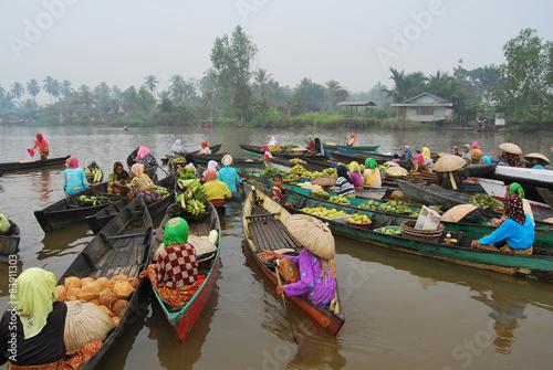 Foto op Plexiglas Indonesië Floating market