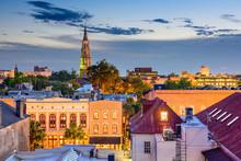 Charleston, South Carolina, USA Town Skyline.