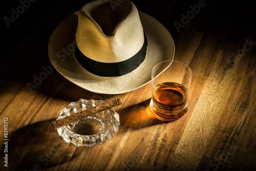 Fényképezés  Rum, Hut und Zigarre