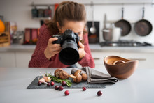 Woman Food Photographer Taking...