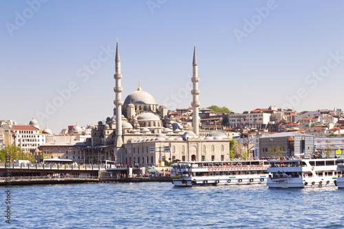 Fototapeta Sceneria Istanbuł w Turcja z Nowym meczetem