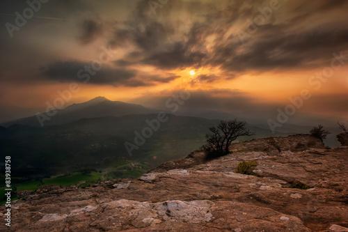 Canvas Prints Akt Pietra,Bismantova,panorama,tramonto