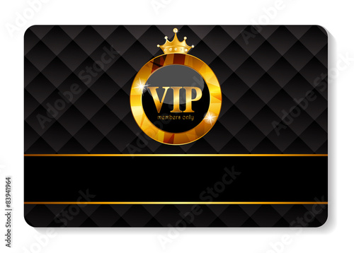 Fotografía  VIP Members Card Vector Illustration