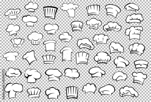 Photo Chef toques and baker hats set