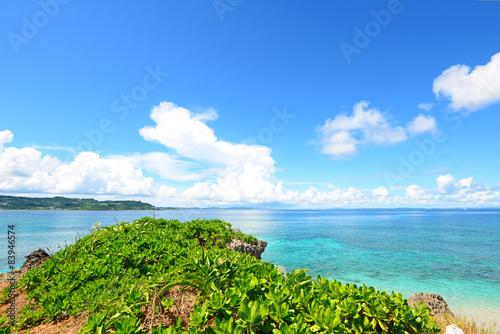 Fototapety, obrazy: 南国の美しいビーチと紺碧の空