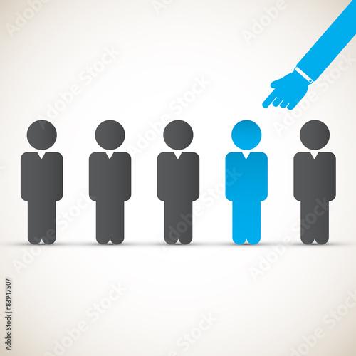 Chosen one - human resources concept Wallpaper Mural