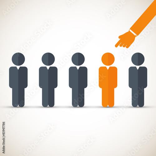 Chosen one - human resources concept Canvas Print