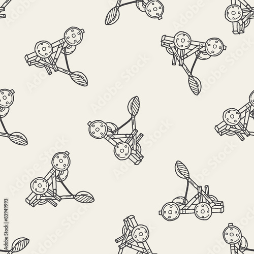 фотографія Trebuchet doodle seamless pattern background