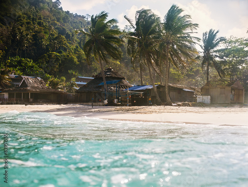 Photo Stands Caribbean landscape of tropical island