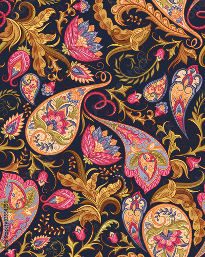 Obraz na plátně Seamless Paisley Pattern
