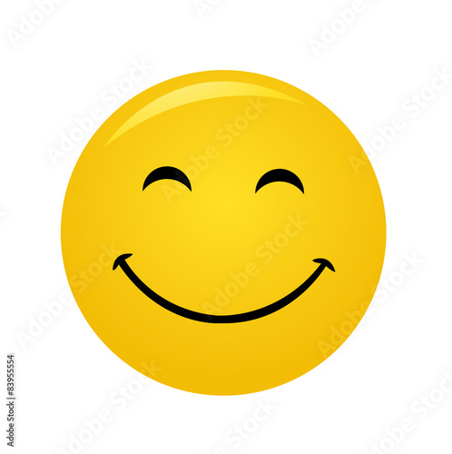 Fotografie, Obraz  Modern yellow laughing happy smile