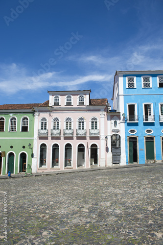 Foto  Colorful Colonial Architecture Pelourinho Salvador Brazil