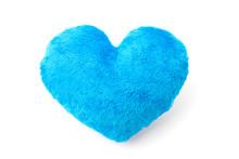 Blue Heart Pillow