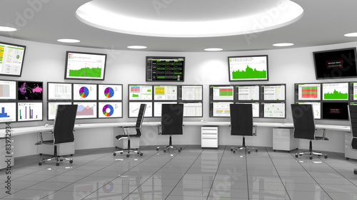 Network / Security Operations Center (NOC / SOC) - fototapety na wymiar
