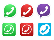 Vector Modern Phone Icon Set