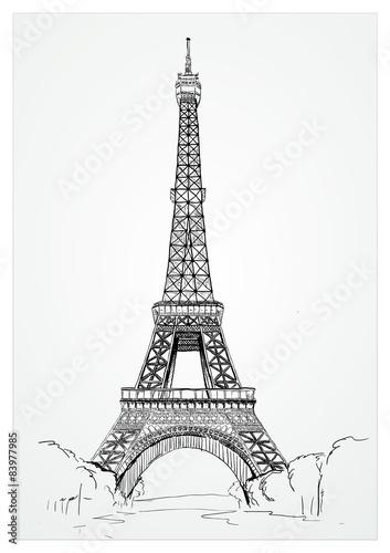 Fotografia  The Eiffel Tower