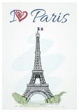 Fototapeta Fototapety Paryż - The Eiffel Tower