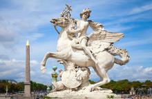 Mercury Riding Pegasus Sculptu...