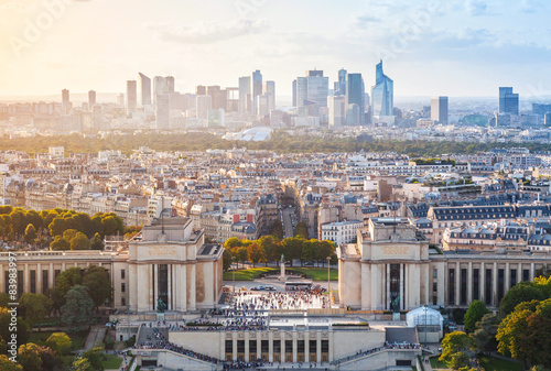 Cityscape of new Paris City, France