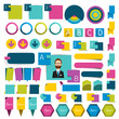 Collections of infographics flat design elements, buttons.