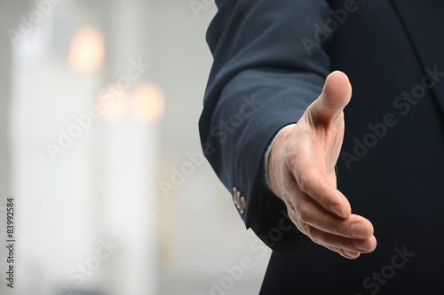 Fotografie, Obraz  Businessman Offering Handshake