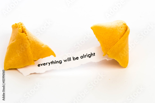 open fortune cookie - EVERYTHING WILL BE ALRIGHT Canvas Print