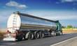 canvas print picture - Big fuel gas tanker